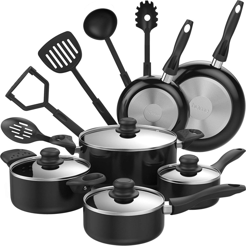 hOmeLabs 15 Piece Nonstick Cookware Set