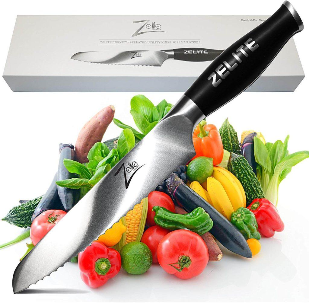 Zelite Infinity Serrated Utility Knife 6 Inch