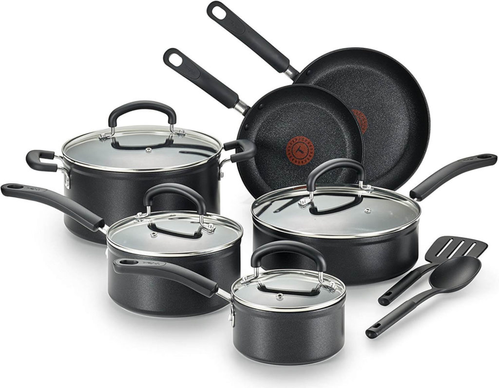 T fal C561SC Titanium Advanced Nonstick Thermo Spot Heat Indicator Dishwasher Safe Cookware Set