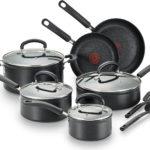 T fal C561SC Titanium Advanced Nonstick Thermo Spot Heat Indicator Dishwasher Safe Cookware Set