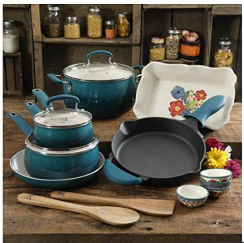 pioneer women 17 piece cookware