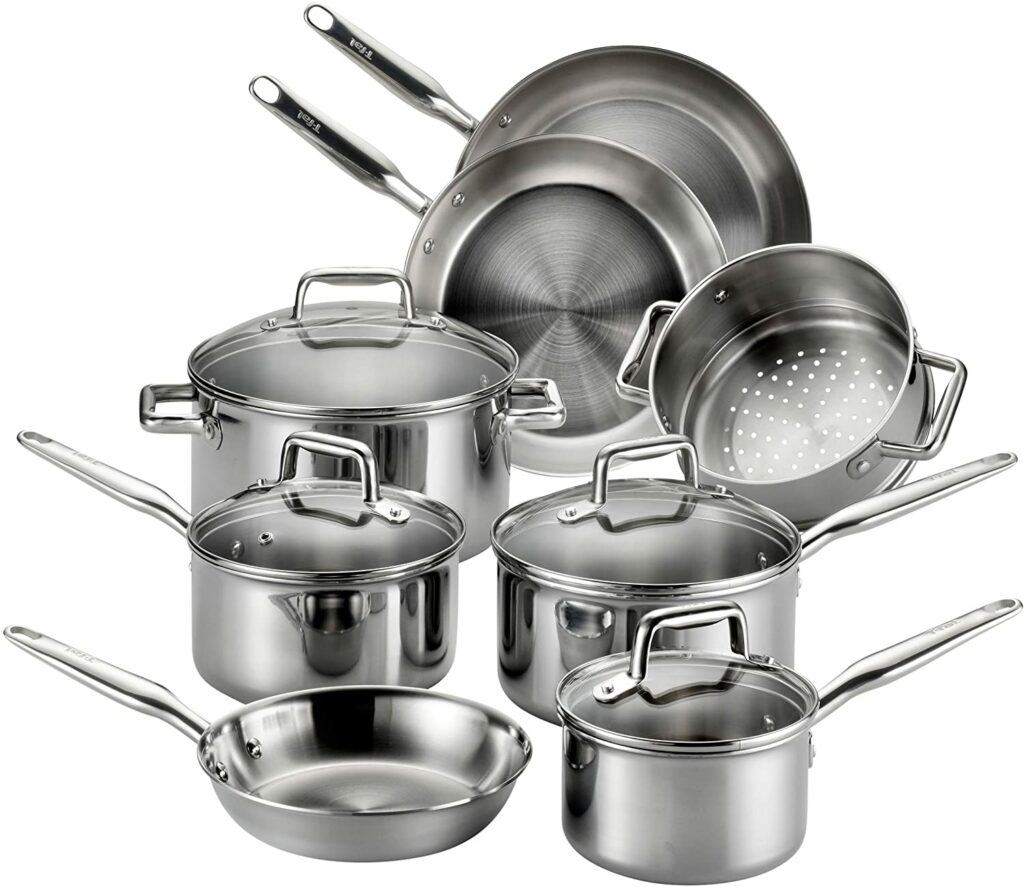 Tfal stainless steel cookware set