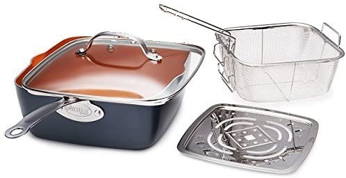 Gotham Steel Cookware deep square