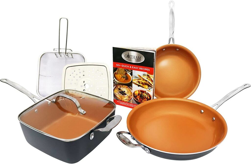 Gotham Steel Tastic Bundle 7 Piece Cookware Set